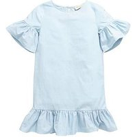 V by Very PRETTY FRILL BLUE DRESS, Blue, Size 11 Years, Women