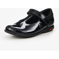 Clarks Trixi Pip Pre Infant Shoe, Black Patent, Size 12.5 Younger