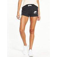 Nike Sportswear Gym Vintage Short, Black, Size M, Women