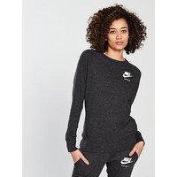 Nike Sportswear Gym Vintage Crew Sweat, Black, Size L, Women