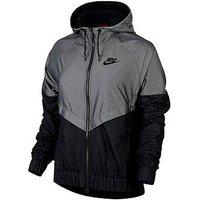 Nike Nike Sportswear Chambray Windrunner Jacket, Black, Size Xl, Women