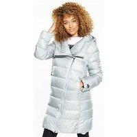 Nike Sportswear Down Fill Parka - Silver , Silver, Size Xl, Women