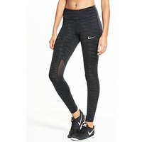 Nike Running Power Radiant Epic Lux Tight, Black, Size Xl, Women