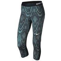 Nike Training Pro Printed Capri Tight, Multi, Size L, Women