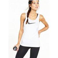 Nike Training Pro Tank - White , White, Size S, Women
