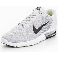 Nike Air Max Sequent 2, Grey/Black, Size 7, Men