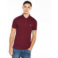 Lyle & Scott Lyle & Scott Polo Shirt, Claret, Size Xs, Men