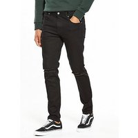 DR. DENIM Clark Slim Ripped Knee Jeans, Black, Size 30, Length Long, Men
