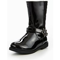 Mini V by Very CRYSTAL YOUNGER GIRLS KNEE BOOT, Black, Size 12 Younger