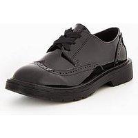V by Very Amelia Older Girls Brogue School Shoe, Black, Size 1 Older