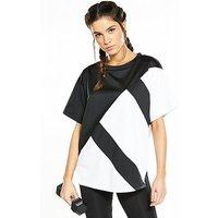 adidas Originals EQT Short Sleeved Top - Black , Black, Size 8, Women