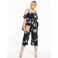 Ax Paris Curve Floral Print Jumpsuit
