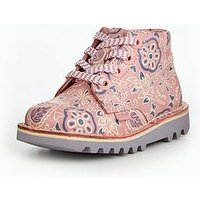 Kickers Kick High Print Boot, Pink/Purple, Size 10 Younger
