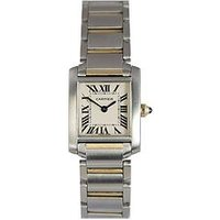 Cartier Pre-owned Tank Francaise Off White Dial Bimetal Ladies Watch Ref 2384, One Colour, Women