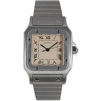 Cartier Cartier Preowned Santos Cream Dial Stainless Steel Mens Watch Ref 1564, One Colour, Men