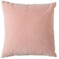 Gallery Kirkby Stab Stitch Velvet Cushion