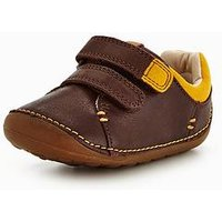 Clarks Tiny Toby Shoe, Brown, Size 2 Younger