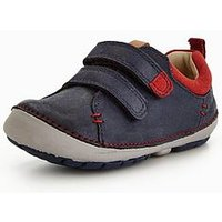 Clarks Softly Toby First Shoe, Navy, Size 4 Younger