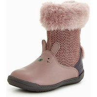 Clarks Iva Time First Boot, Dusty Pink, Size 5.5 Younger