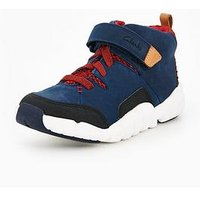 Clarks Tri Mimo Junior Boot, Navy, Size 1 Older
