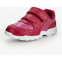 Clarks Brite Play First Trainer, Pink, Size 5 Younger