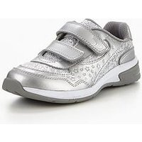 Clarks Piper Play Junior Trainer, Silver, Size 12 Younger