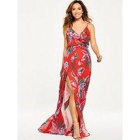 Myleene Klass Tropical Ruffle Front Maxi Dress