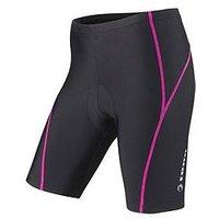 tenn Viper 8 Panel Ladies Cycling Shorts, Black/Pink, Size 8, Women