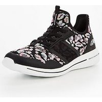 Skechers Skechers Burst 2.0 Game Changing Bungee Slip On Trainer, Black Multi, Size 3, Women
