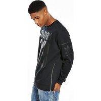 adidas Originals Osaka Winter Crew, Black, Size Xl, Men