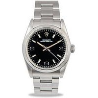 Rolex Rolex Preowned Oyster Perpetual Black Dial Midsize Watch Ref 64780, One Colour, Men