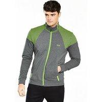 Boss Green Zip Track Top, Medium Grey, Size 2Xl, Men
