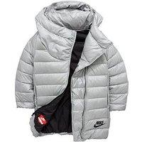 Nike Older Girl Nsw Down Filled Jacket, Grey, Size Xl=13-15 Years, Women