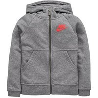Nike Older Girl Nsw Modern Full Zip Hood, Grey Heather, Size Xl=13-15 Years, Women