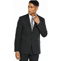 Calvin Klein Stretch Wool Suit Jacket, Black, Size 36, Length Regular, Men
