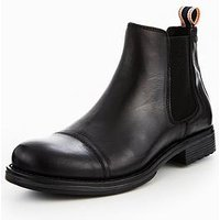 Jack & Jones Jack & Jones Greg Chelsea Boot, Anthracite Black, Size 10, Men