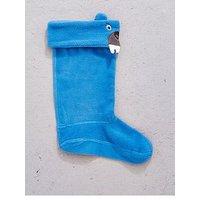 Joules Boys Bear Welly Sock, Blue, Size 1-3