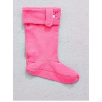 Joules Girls Hare Welly Sock, Pink, Size 8-10