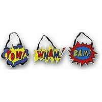 ARTHOUSE Superhero Hanging Plaques - Set of 3, Multi