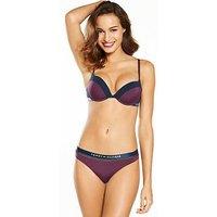 Tommy Hilfiger Sheer Flex Bikini Brief - Purple, Purple, Size Xs, Women