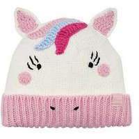 Joules Chummy Unicorn Hat, Cream
