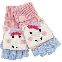 Joules Chummy Unicorn Gloves, Pink