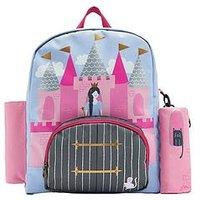 Joules Princess Castle Backpack, Pink Multi