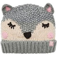 Joules Baby Chummy Fox Hat, Grey, Size 1-2 Years