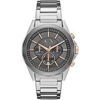 Armani Exchange Grey Chronograph Stainless Steel Bracelet Mens Watch, One Colour, Men