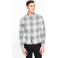 NATIVE YOUTH Brentwood Ls Shirt, Grey, Size L, Men