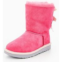 UGG Bailey Bow Ii Boot, Pink, Size 5 Younger