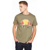 Ellesse Pietri Camo T-Shirt, Dusty Olive, Size M, Men