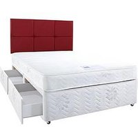 Hush From Airsprung Astbury Memory Divan Bed With Optional Storage And Next Day Delivery