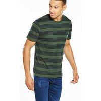 Lee Striped Tshirt, Forest Green, Size L, Men